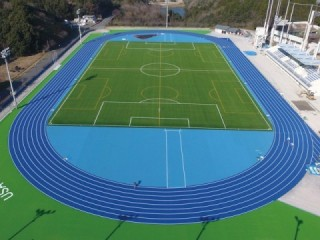 Forest Sports Park land sports stadium of Heisei, Usa-shi Reiwa