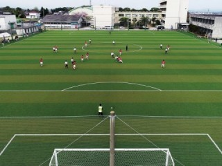 Artificial turf soccer ground